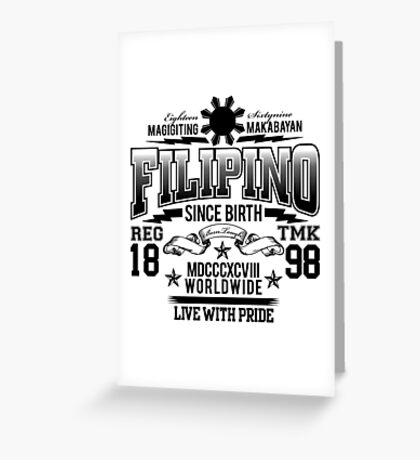 FILIPINO Greeting Card