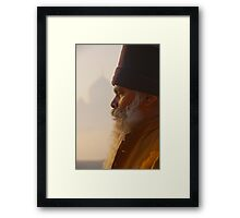 Meditation At The Taj Framed Print
