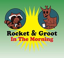 Rocket & Groot In The Morning by UrLogicFails