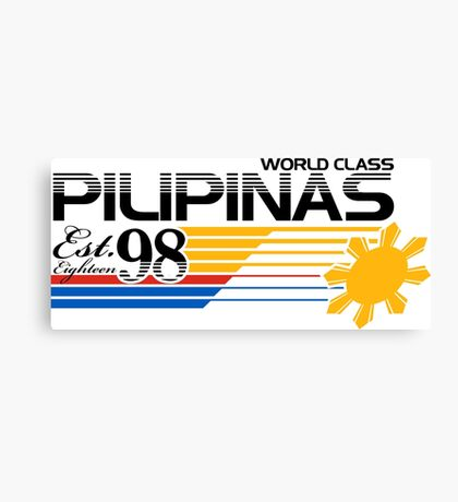Pilipinas World Class Canvas Print