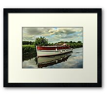 Vintage vessel on Norfolk Broads Framed Print