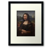 The Moaning Lisa (Karl Pilkington) Framed Print