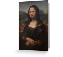 The Moaning Lisa (Karl Pilkington) Greeting Card