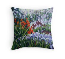 A Hundred Flowers Blossom Throw Pillow