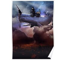 Flying Whale Poster