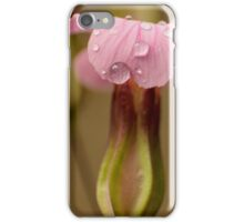 pink raindrops iPhone Case/Skin