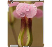 pink raindrops iPad Case/Skin