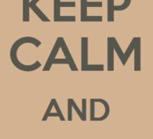 Keep Calm and Drink Boba Tea Sticker