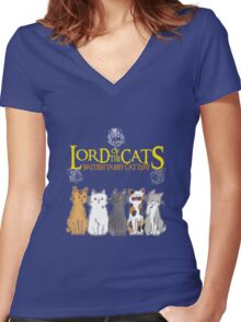 Lord Of The Cats  Women's Fitted V-Neck T-Shirt