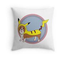 Pikachu Corgi Throw Pillow