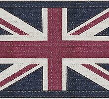 Denim UK Flag by gillian-dernie