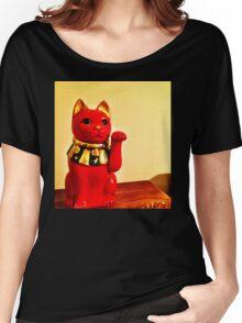 Lucky Cat Women's Relaxed Fit T-Shirt