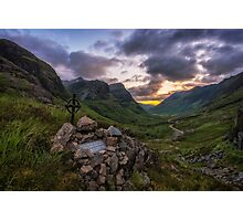 Glen Coe Summer Sunset Photographic Print