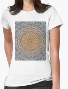 Mandala in beige and golden tones Womens Fitted T-Shirt