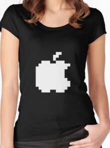 Apple pixel Women's Fitted Scoop T-Shirt