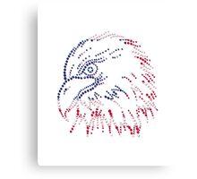 American Patriotic Dots Eagle Flag Canvas Print