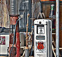 Route 66 Gas Pumps by Lee Craig