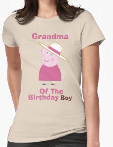 Grandma (HBD) boy Womens Fitted T-Shirt