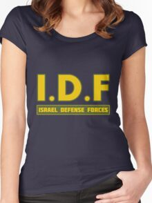 IDF Israel Defense Forces - with Symbol Women's Fitted Scoop T-Shirt