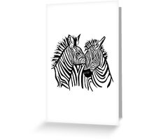 two zebras together Greeting Card