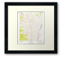 USGS TOPO Map Arizona AZ Bumble Bee 310651 1969 24000 Framed Print