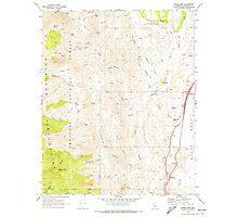 USGS TOPO Map Arizona AZ Bumble Bee 310651 1969 24000 Photographic Print
