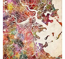 Boston map Photographic Print