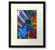 Colorful Floating Cork Framed Print