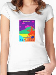 Seattle. Women's Fitted Scoop T-Shirt
