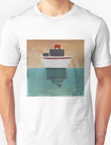 Grey boat Unisex T-Shirt