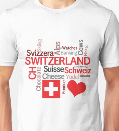 I Love Switzerland Unisex T-Shirt