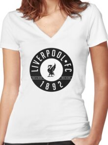 Liverpool FC - 1892 BLACK & WHITE Women's Fitted V-Neck T-Shirt