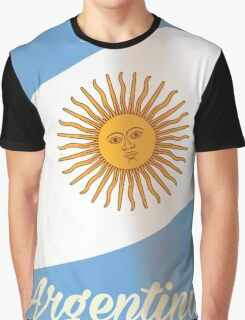 Argentina National flag vacation poster Graphic T-Shirt