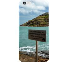 You are Standing at the Northernmost Point of the Australian Continent iPhone Case/Skin