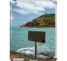 You are Standing at the Northernmost Point of the Australian Continent iPad Case/Skin