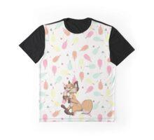 Creamy Icecream fox Graphic T-Shirt