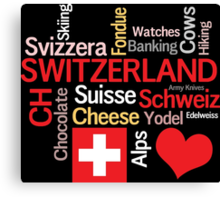 I Love Switzerland Canvas Print