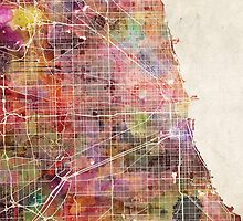 Chicago map by MapMapMaps