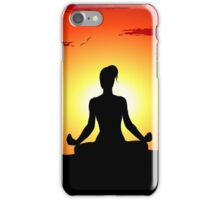 Female Yoga Meditating  iPhone Case/Skin