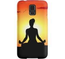 Female Yoga Meditating  Samsung Galaxy Case/Skin