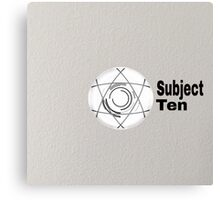 Subject Ten Canvas Print