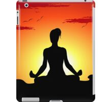 Female Yoga Meditating iPad Case / iPhone 5 Case / Samsung Galaxy Cases  / Pillow / Tote Bag / Duvet iPad Case/Skin
