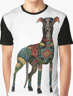 greyhound white Graphic T-Shirt