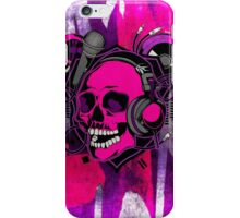 Karaoke Skull! iPhone Case/Skin