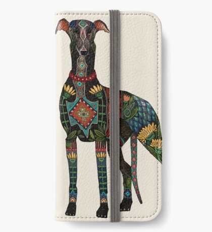 greyhound ivory iPhone Wallet/Case/Skin