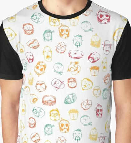 manly men in color Graphic T-Shirt