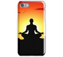 Male Yoga Meditating iPhone Case/Skin