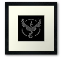°GEEK° Team Valor B&W Framed Print