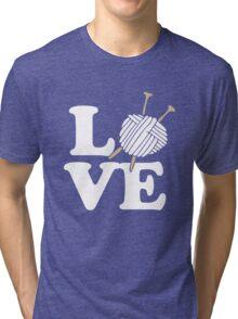 LOVE to knit Tri-blend T-Shirt