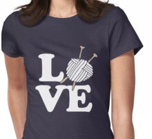 LOVE to knit Womens Fitted T-Shirt